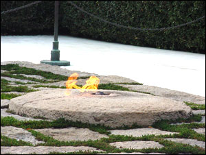 Close up view of the eternal flame